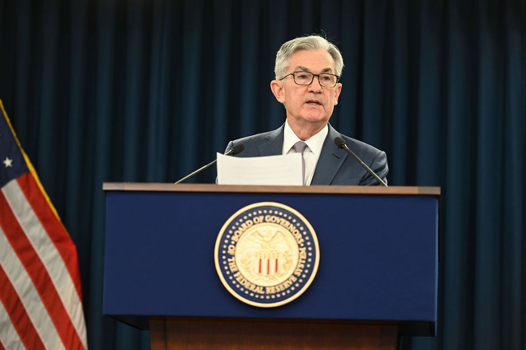 Fed Chairman Jerome Powell answers a reporter's question at the March 3, 2020 press conference.