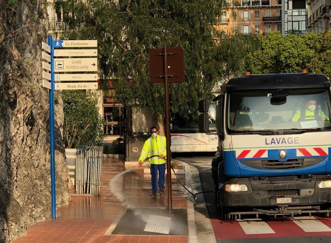 Monaco Streets To Be Disinfected